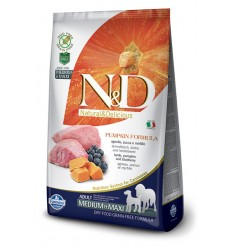 N&D Dog Grain Free Miel, Afine & Dovleac Adult Medium & Maxi