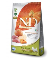 N&D Dog Grain Free Mistret, Mere si Dovleac Adult Mini