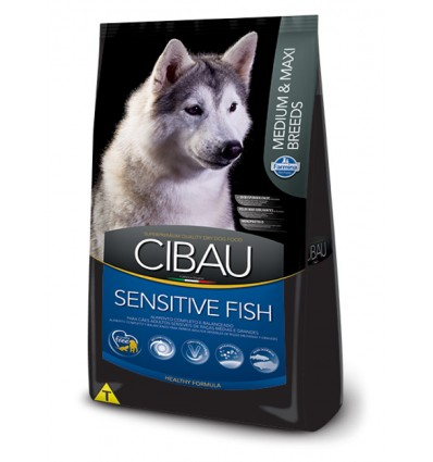 Cibau Sensitive Adult Medium & Maxi Fish, 12kg