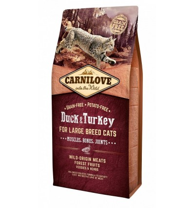 Carnilove Cat Large Breed Control Rata & Turkey, 6kg