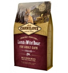 Carnilove Cat Adult Sterilised Lamb & Wild Boar