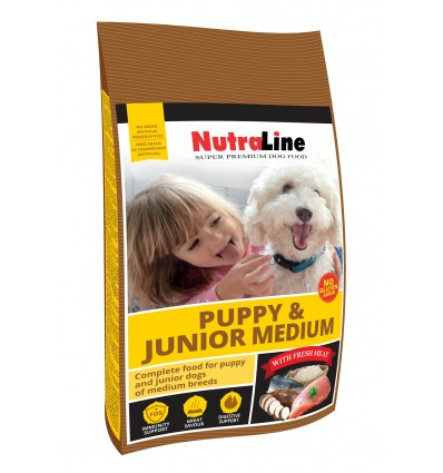 Nutraline Caine Puppy & Junior Medium 12.5kg