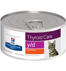 Hill's Dieta Pisica y/d THyroid Care, 6 conserve x 156g