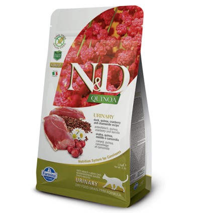 N&D Cat Quinoa Duck Urinary, 1.5kg