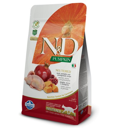 N&D Cat Grain Free Quail & Pumpkin Neutered, 1.5kg
