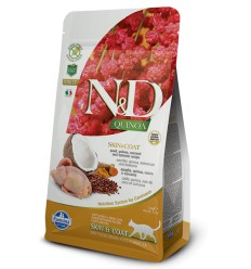 N&D Cat Grain Free Quinoa Quail Skin & Coat, 1.5kg