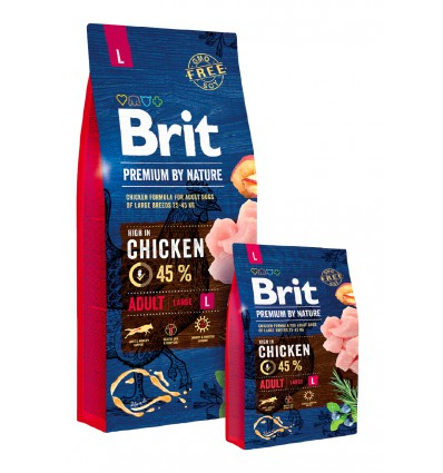 Brit Premium by Nature Adult Dog L, 15kg