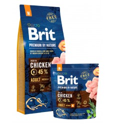 Brit Premium by Nature Adult Dog M 15kg
