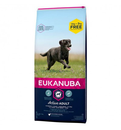 Eukanuba Adult Large Breed, 12+2kg