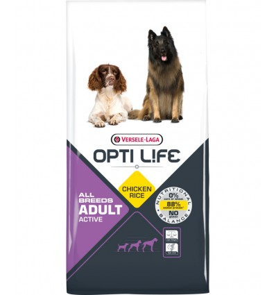 Opti Life Adult Active All Breeds, 12.5kg