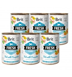 Brit Fresh Fish & Pumpkin, 6x400 grame