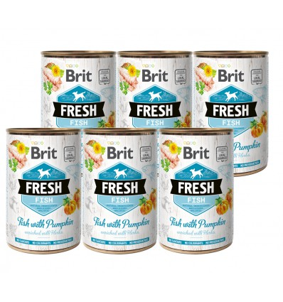Brit Fresh Fish & Pumpkin, 6x400g