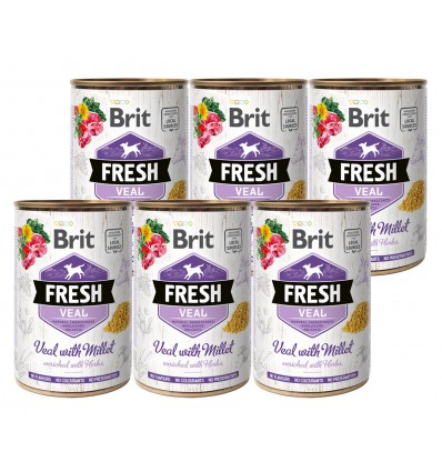 Brit Fresh Veal & Millet, 6x400g
