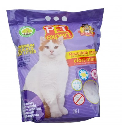 Pet Expert Nisip Silicatic Lavanda