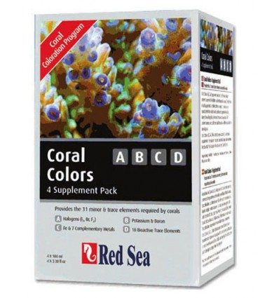 Red Sea Coral Colors ABCD 4x100ml