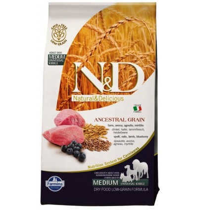 N&D Low Grain Adult Medium Miel & Afine 12kg