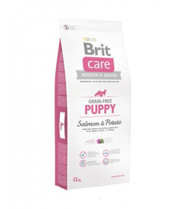 Brit Care Grain Free Puppy Somon & Cartofi, 12kg
